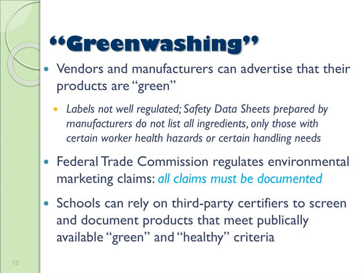 """Greenwashing"""