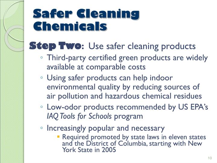 Safer Cleaning Chemicals