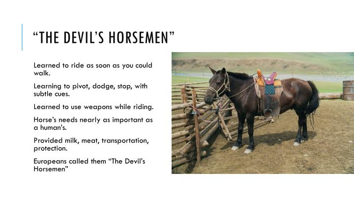 """The Devil's Horsemen"""
