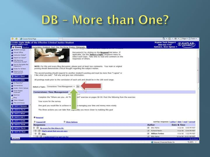 DB – More than One?