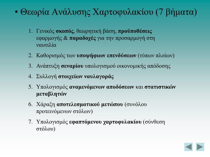 Θεωρία Ανάλυσης Χαρτοφυλακίου (7 βήματα)