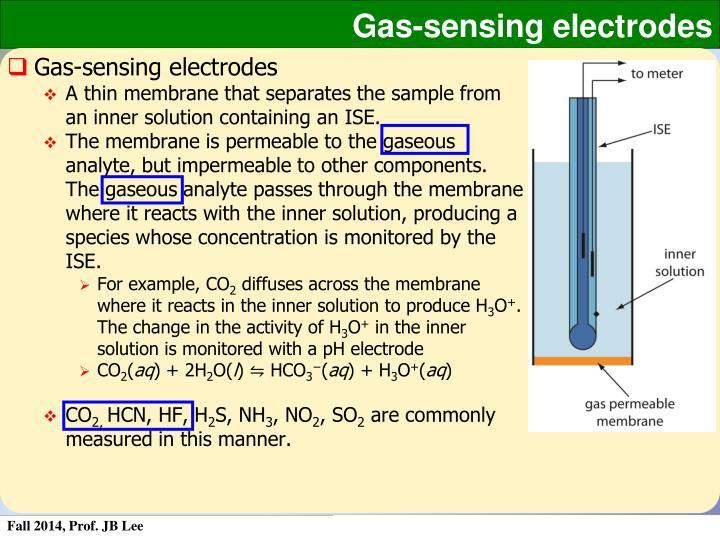 Gas-sensing electrodes