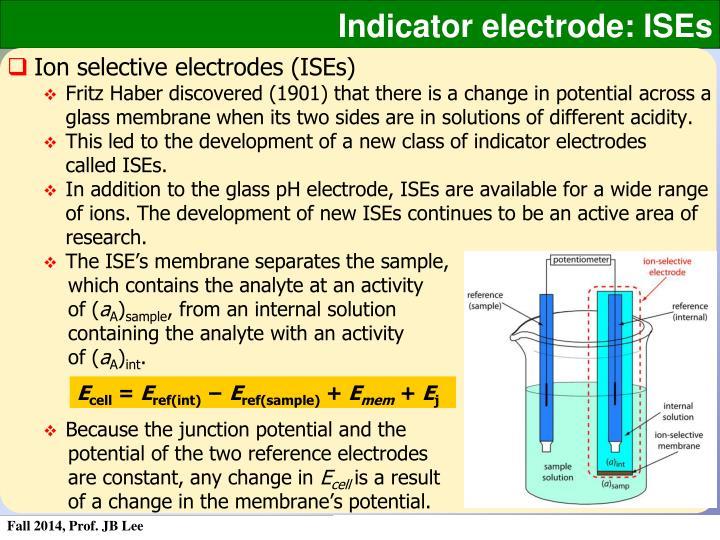 Indicator electrode: ISEs