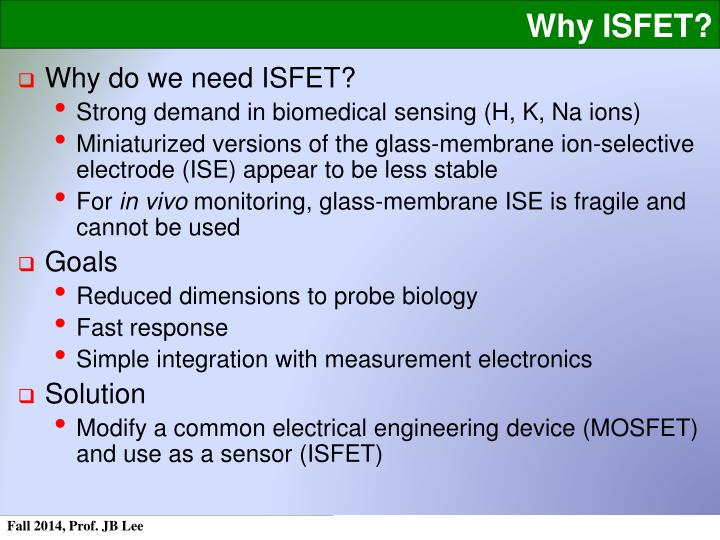 Why ISFET?