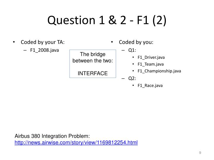 Question 1 & 2 - F1 (2)
