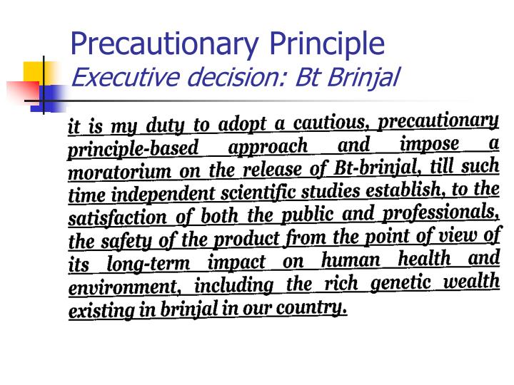 Precautionary Principle