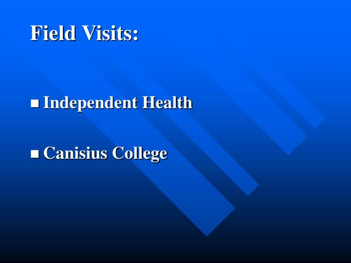 Field Visits: