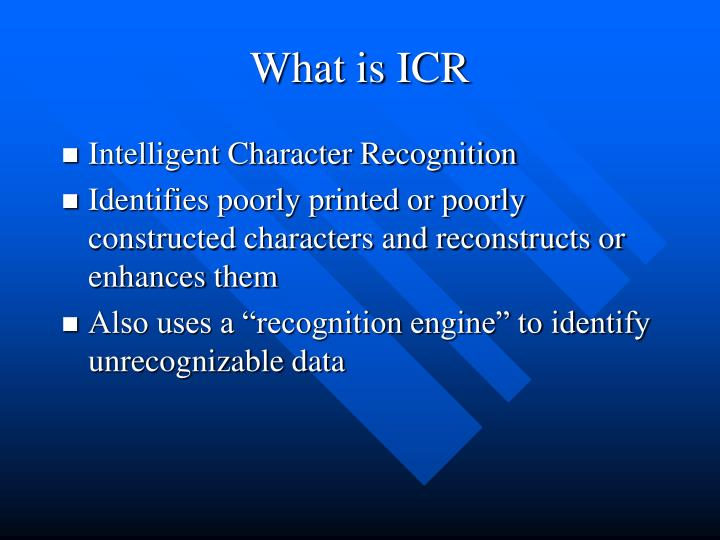 What is ICR