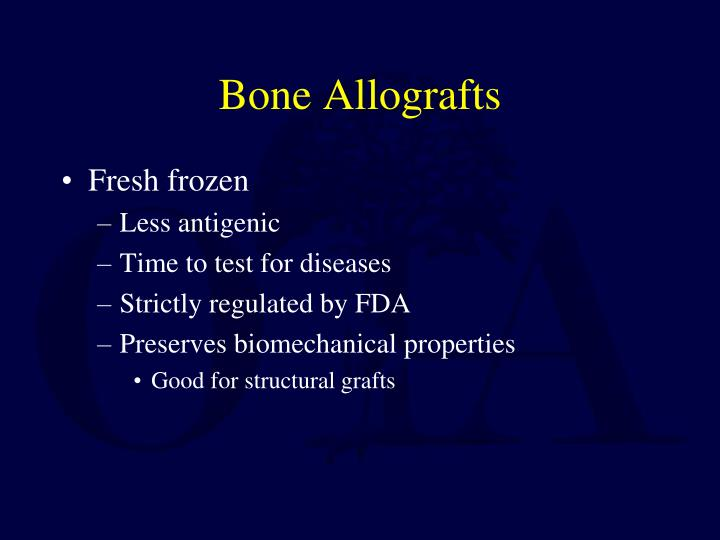 Bone Allografts