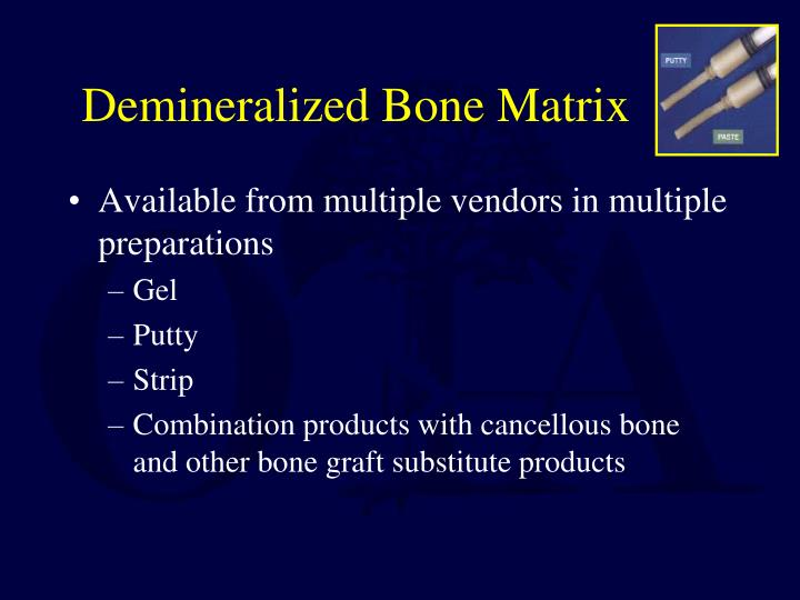 Demineralized Bone Matrix