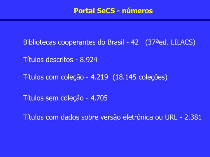 Portal SeCS - números
