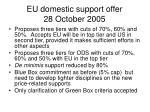 eu domestic support offer 28 october 2005
