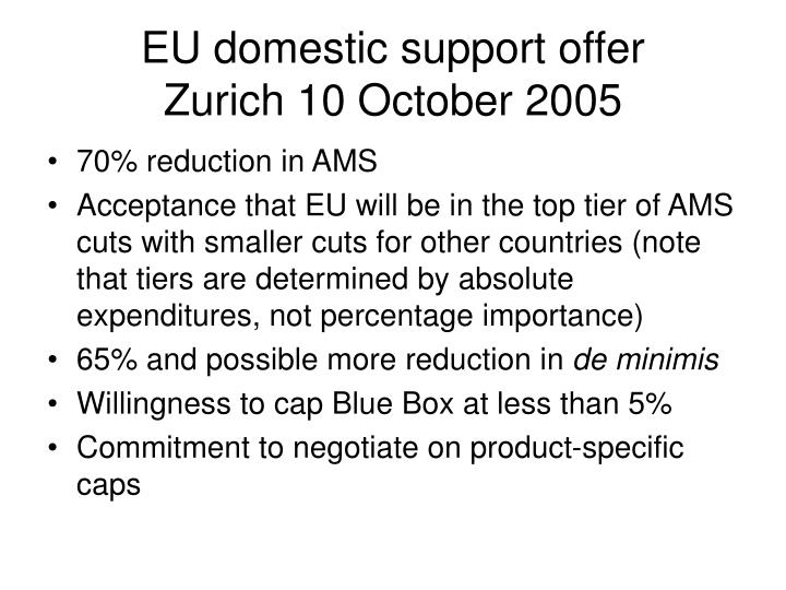 EU domestic support offer