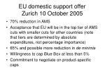 eu domestic support offer zurich 10 october 2005