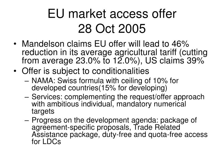 EU market access offer