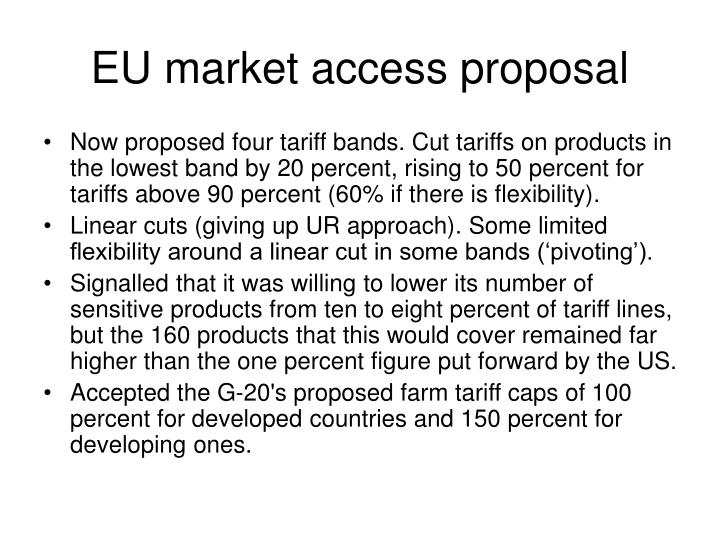 EU market access proposal