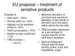 eu proposal treatment of sensitive products1