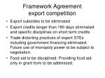 framework agreement export competition