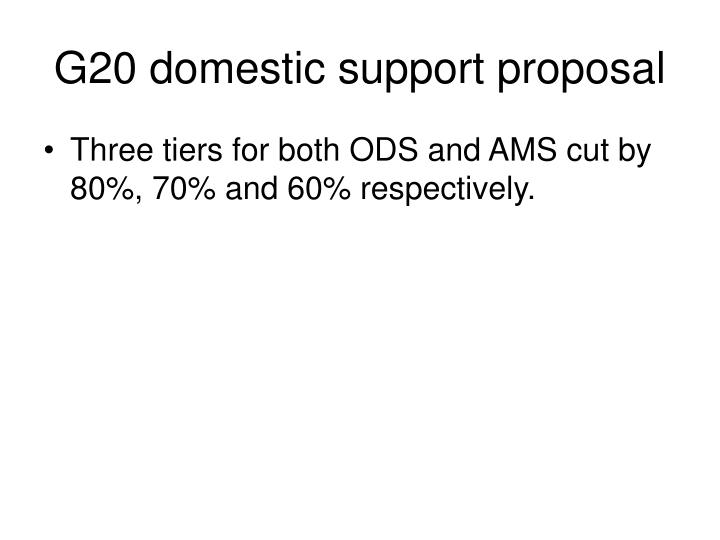 G20 domestic support proposal