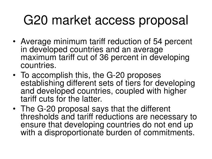 G20 market access proposal