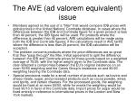 the ave ad valorem equivalent issue1