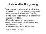 update after hong kong