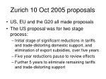 zurich 10 oct 2005 proposals