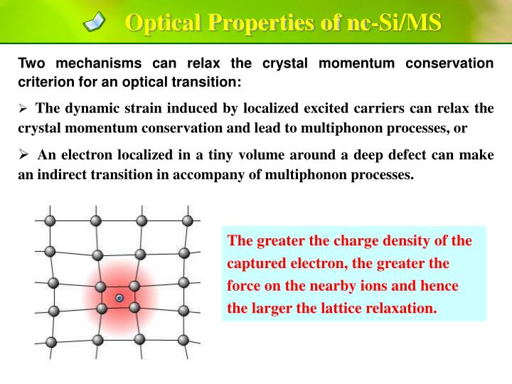 Optical Properties of nc-Si/MS
