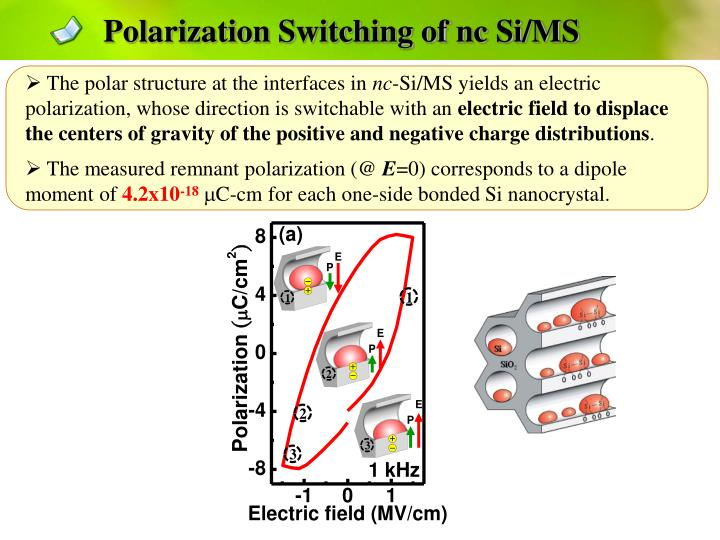 Polarization Switching of nc Si/MS