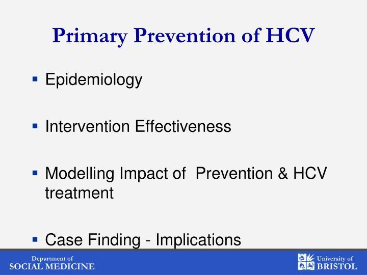 Primary Prevention of HCV