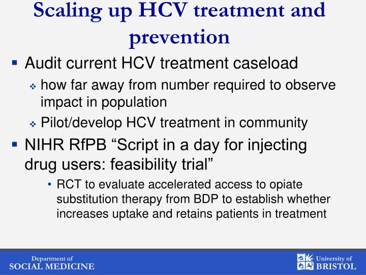 Scaling up HCV treatment and prevention