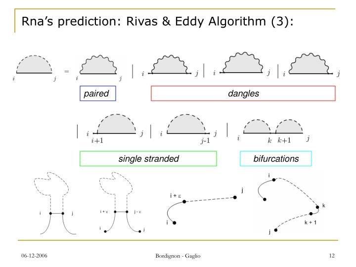 Rna's prediction: Rivas & Eddy Algorithm (3):