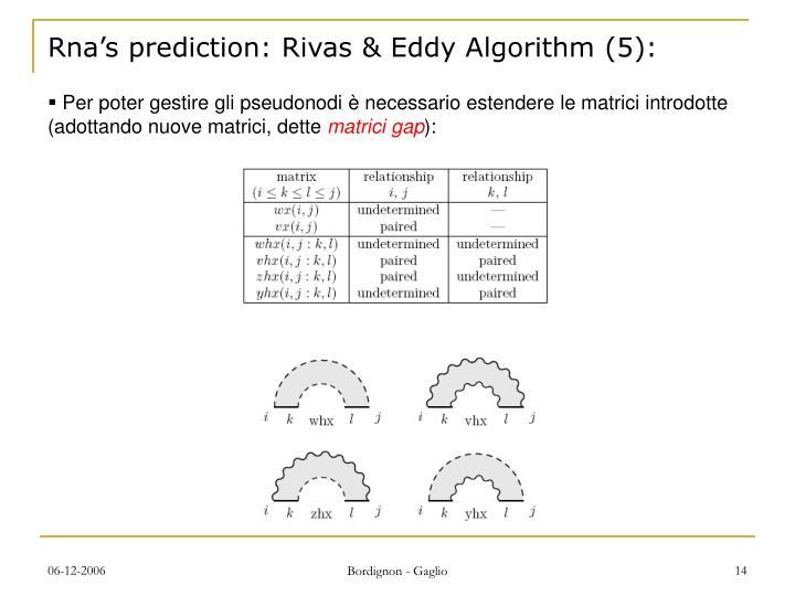 Rna's prediction: Rivas & Eddy Algorithm (5):