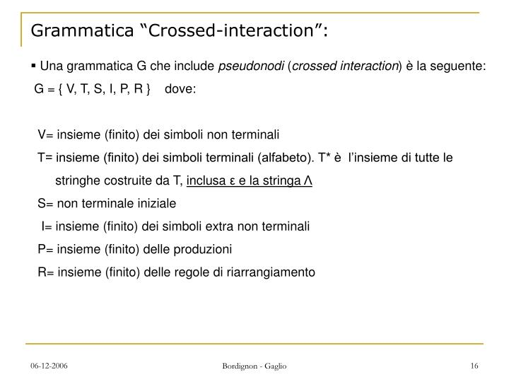 "Grammatica ""Crossed-interaction"":"