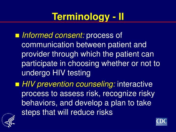 Terminology - II
