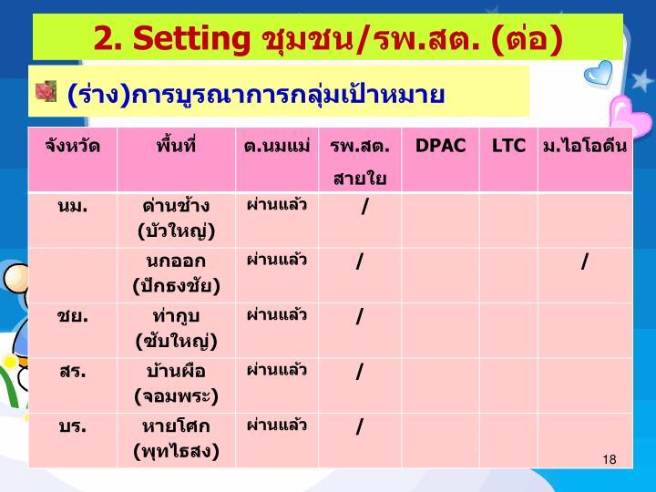 2. Setting