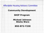 affordable housing advisory committee12