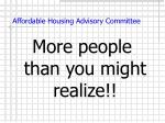 affordable housing advisory committee2