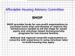 affordable housing advisory committee9