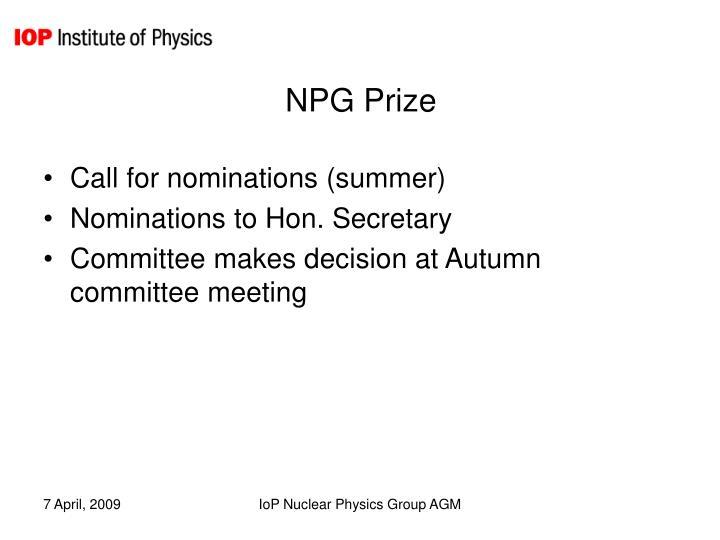 NPG Prize