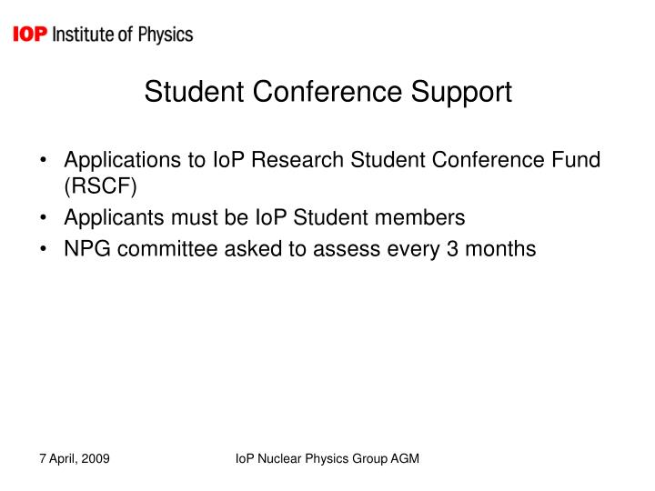 Student Conference Support
