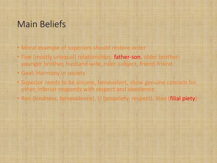 Main Beliefs