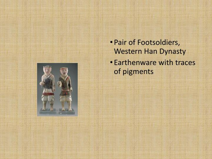 Pair of Footsoldiers, Western Han Dynasty