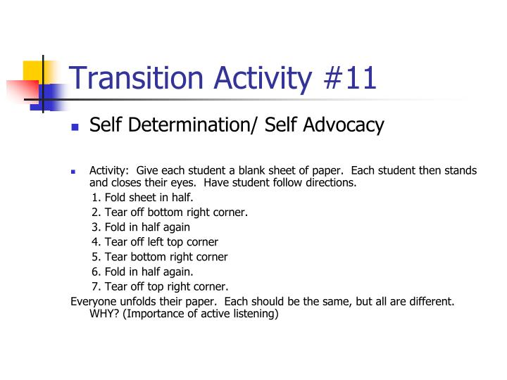 Transition Activity #11