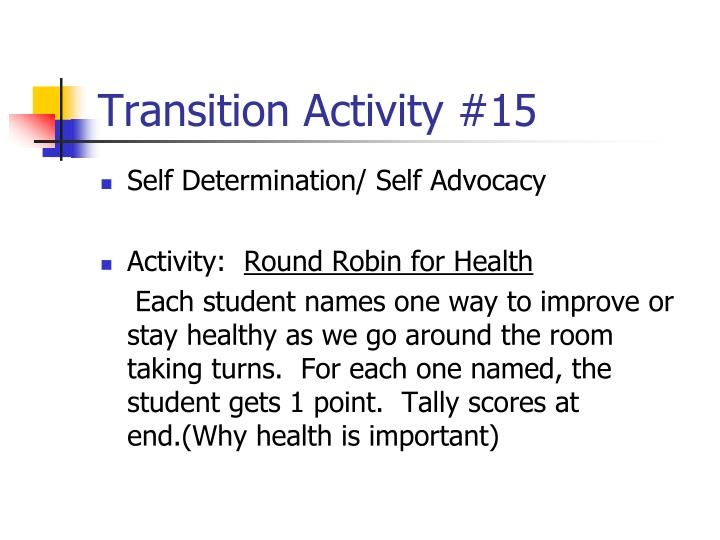 Transition Activity #15