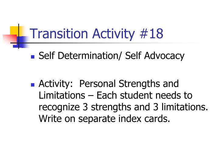 Transition Activity #18