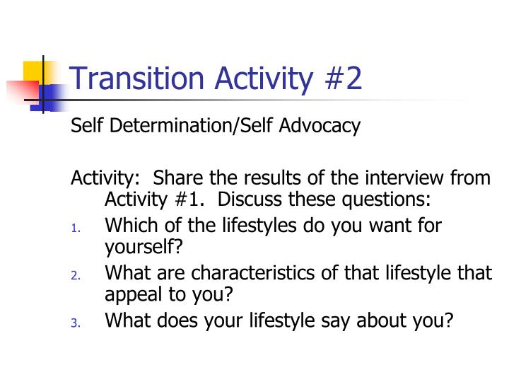 Transition Activity #2