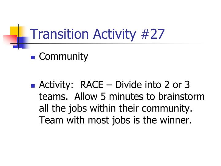 Transition Activity #27