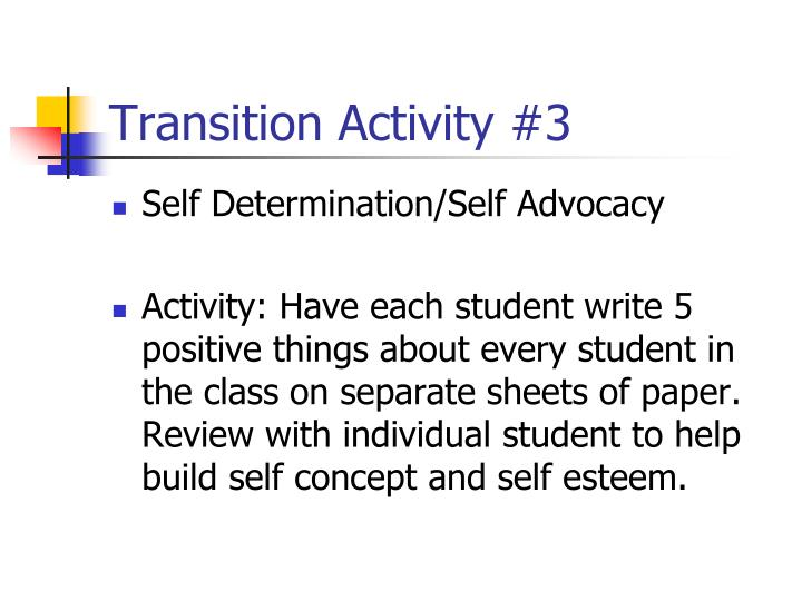 Transition Activity #3