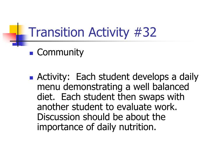 Transition Activity #32